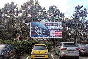 stampa e affissione cartello 6x3 mt per cliente Autover Umbria