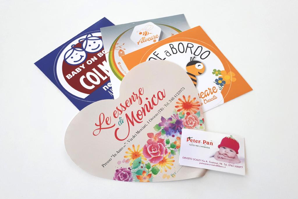 stampa adesivi e grafica pubblicitaria per clienti in Umbria