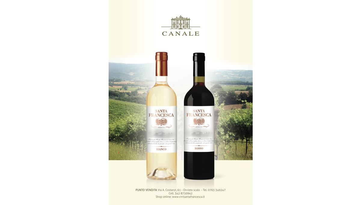 Grafica per produttore vino Santa Francesca in Umbria