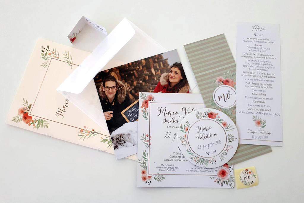 grafica e stampa inviti matrimonio