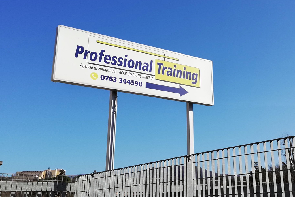 insegna cartello pubblicitario cliente professional training di Orvieto (Umbria) Terni