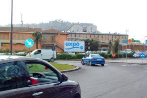 Impianto pubblicitario 6x 3 mt con prismi rotanti a Orvieto in Umbria