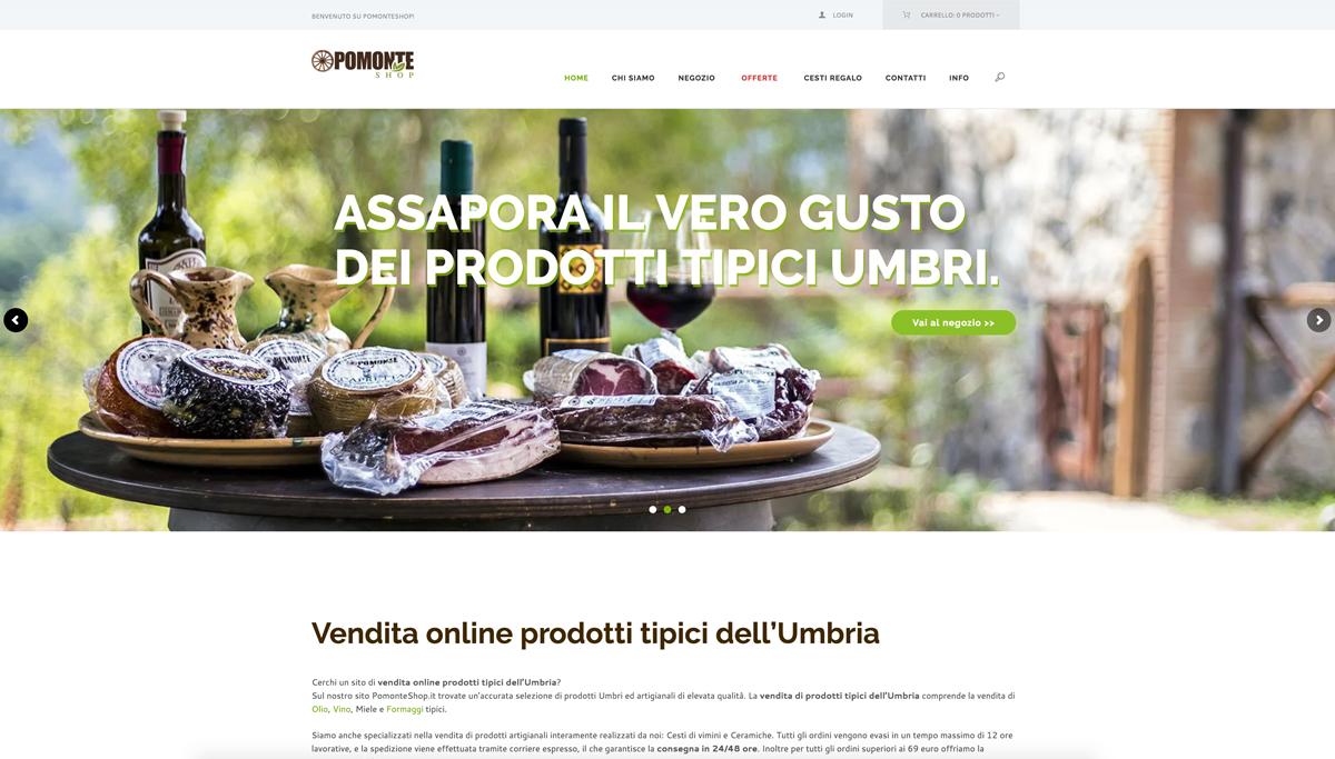 realizzazione sito web e grafica Pomonte Shop