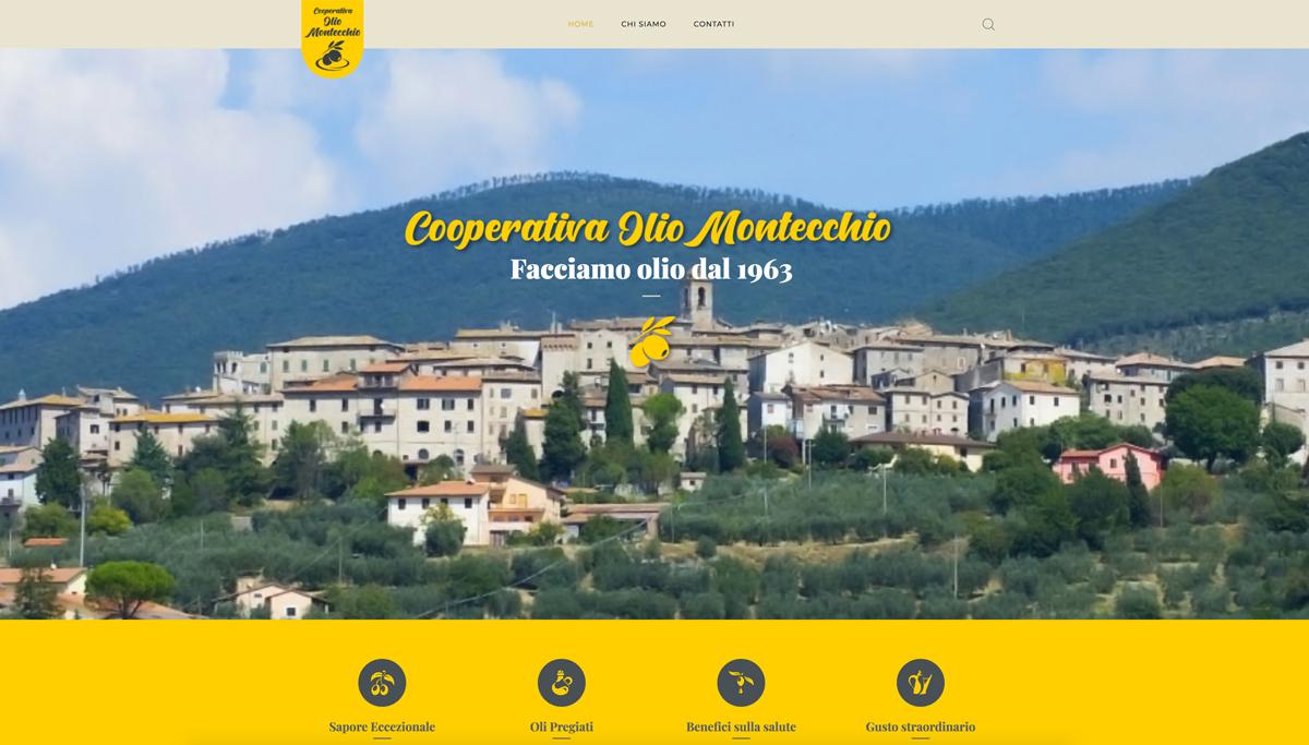 realizzazione grafica e sito web per cooperativa Olio Montecchio