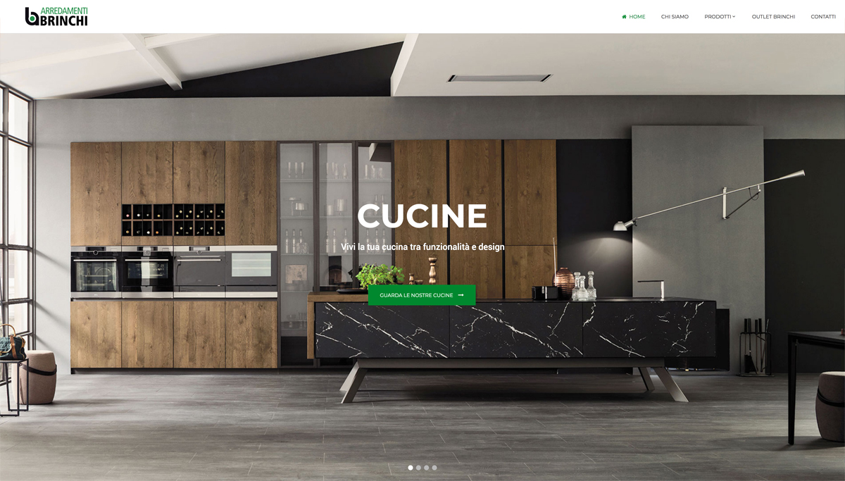 Creazione sito web Brinchi Arredamenti Lazio