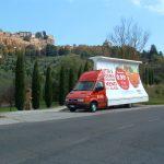 Foto vela itinerante 6x3 metri con autista in Umbria Lazio e Toscana