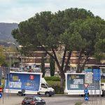 vele pubblicitarie con autista con servizio itinerante in Umbria, Lazio e Toscana
