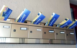 distribuzione volantino euronics porta a porta Lazio e Umbria